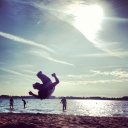 Flippin at The beach